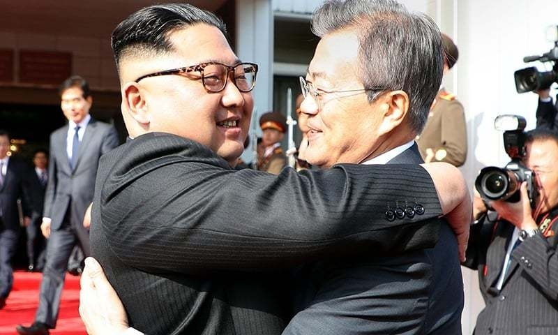Kim, Moon meet inside DMZ