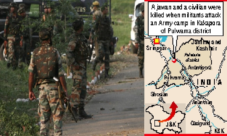 Militants attack Army camp in J&K; soldier, civilian killed