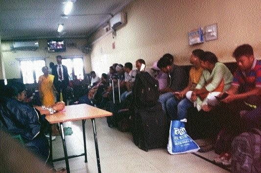 Railway passenger register complaint regarding occupancy of AC waiting hall