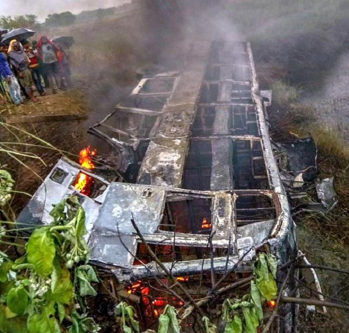 20 feared dead as Delhi-bound bus skids off highway in Bihar