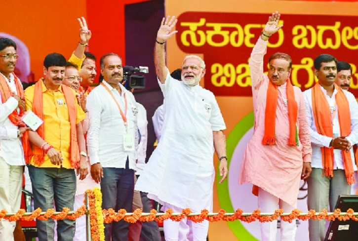 Karnataka Govt 'gold medalist' in graft, Congress insulting national heroes: Modi