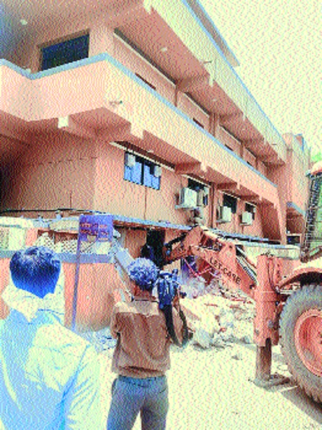 NIT razes unauthorised celebration hall