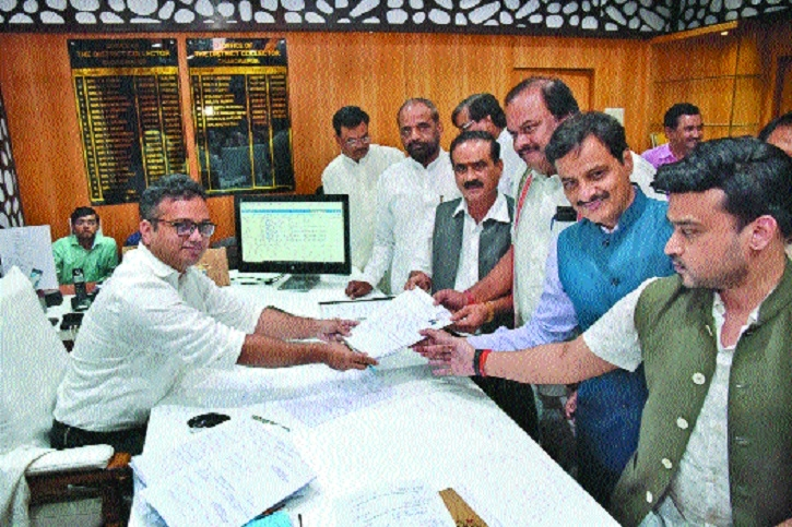 8 file nomination papers from Chanda-Wardha-Gadchiroli seat