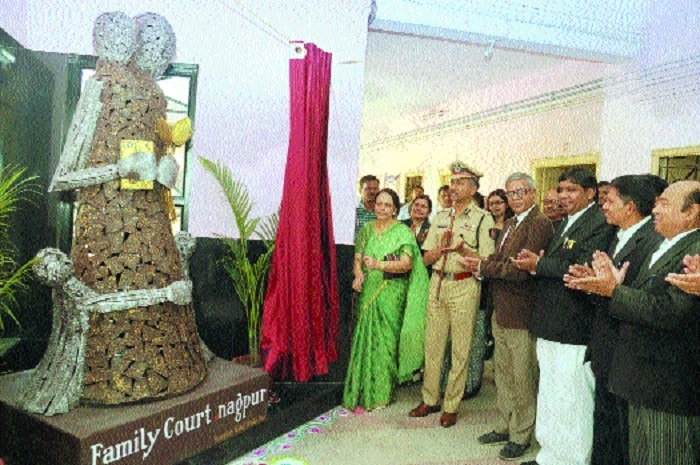 'Sculpture installed in Family Court will inspire clients to start family life afresh'
