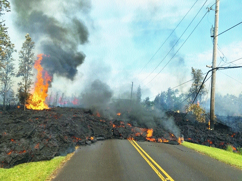 Hawaii volcano destroys 31 homes, spews lava 200 feet into the air