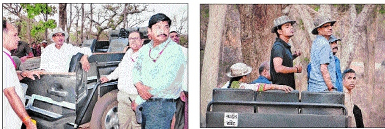 CM, family enjoy Jungle Safari at Pench