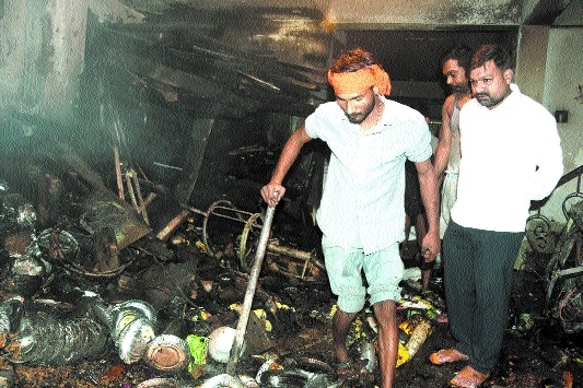 Property worth lakhs gutted in 2 incidents
