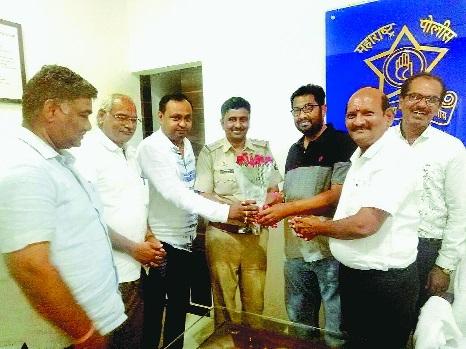 NVCC felicitates PI Vaibhav Jadhav