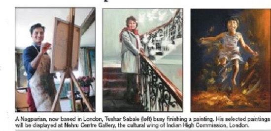 Tushar Sabale's 2nd solo expo in London from 11th