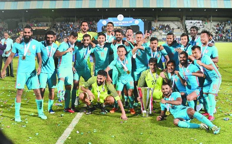 Milestone man Chhetri helps India clinch title