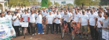 Cycle rally marks end of Environment Awareness Week