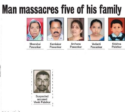 Man massacres five of his family