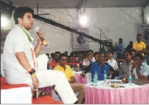 Jyotiraditya Scindia interacts with youths