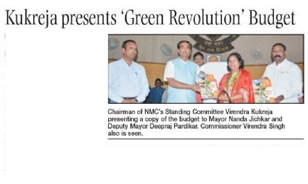 Kukreja presents 'Green Revolution' Budget