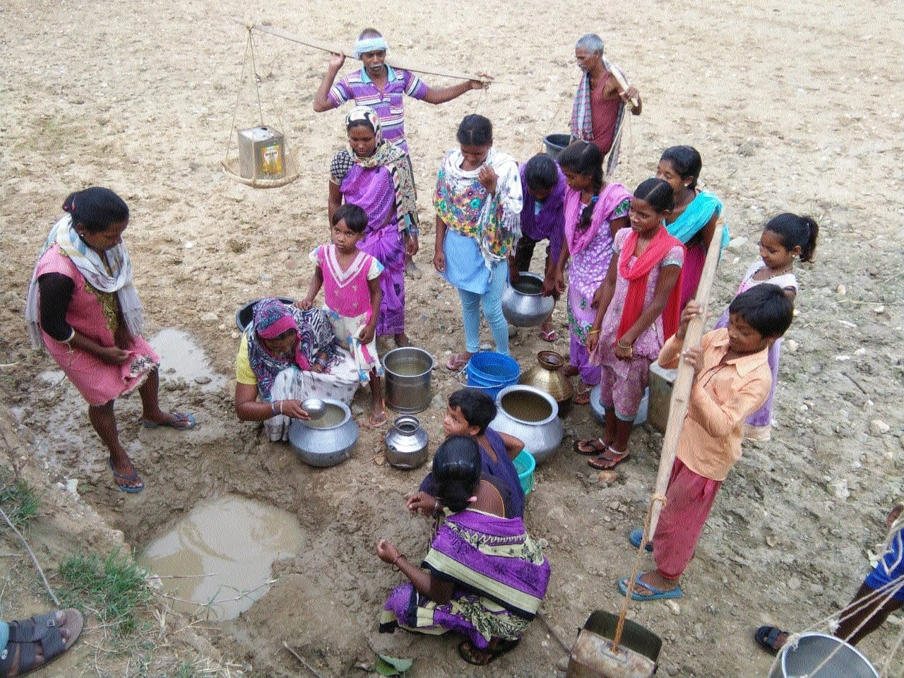 Apathy: villagers forced to drink dirty water