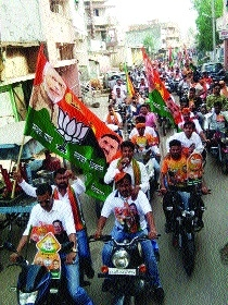BJYM takes out bike rally of 1,500 workers