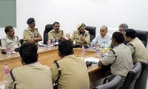 DGP Upadhyay directs officials regarding security