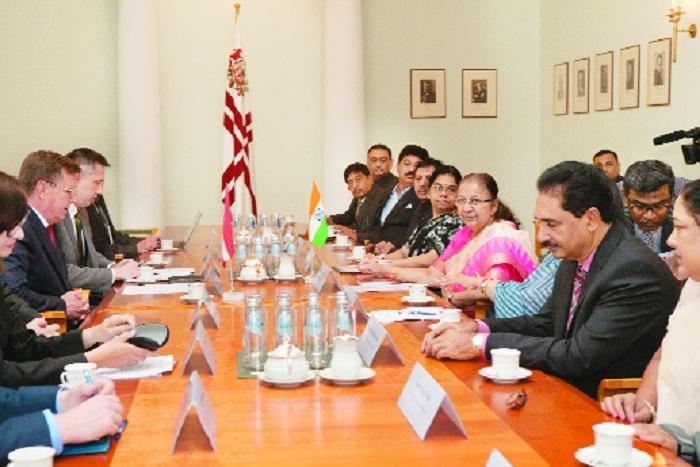 LS speaker meets Lativian PM