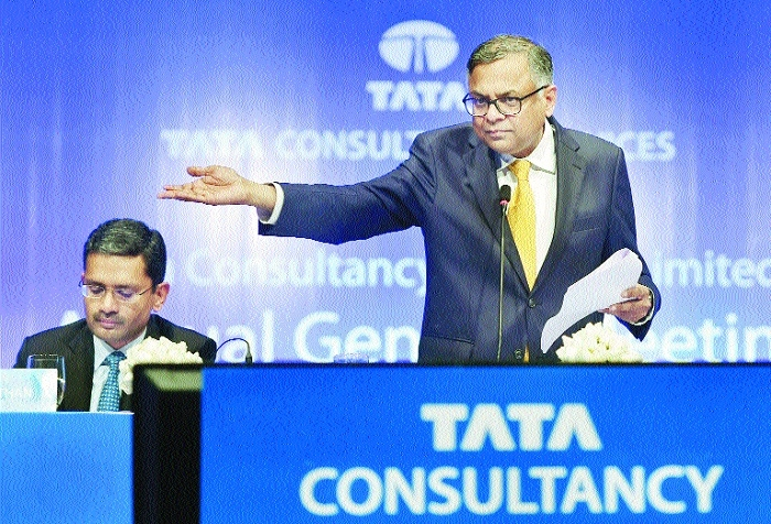 TCS 1st co to close session with over Rs 7 lakh cr m-cap