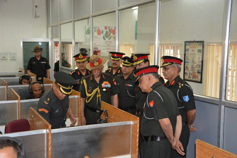 Gen Rawat visits AEC Training College, Pachmarhi