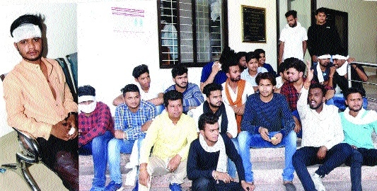 NSUI demonstrates against poor law and order