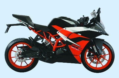 New black RC 200 bike at Khamla Square KTM
