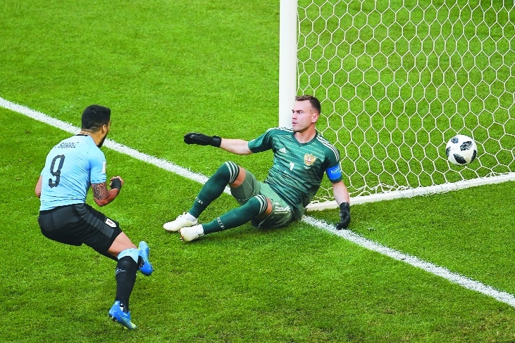 Uruguay punish sluggish Russia