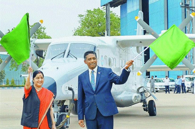 Sushma hands over Dornier plane to Seychelles President