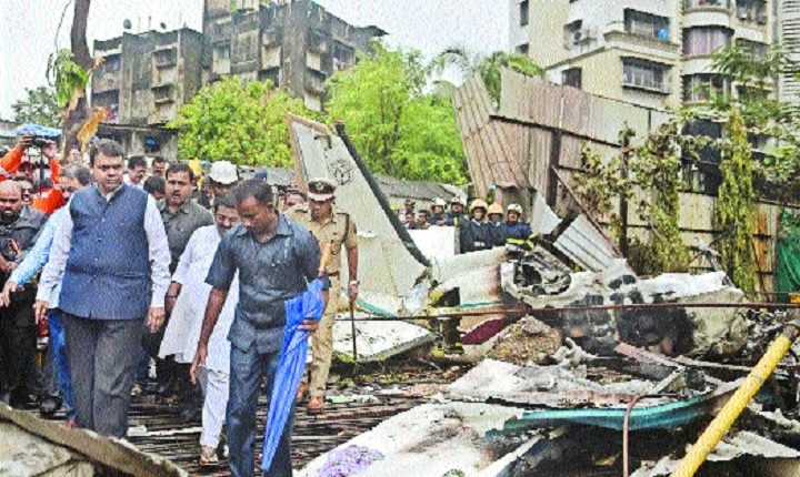 Five killed as chartered plane crashes in Mumbai
