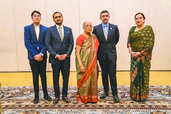 UAE Minister Sheikh Abdullah bin Zayed Al Nahyan honours Dr Zulekha Daud