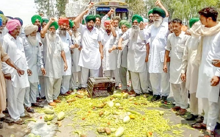 Farmers' agitation enters 2nd day; vegetables prices soar