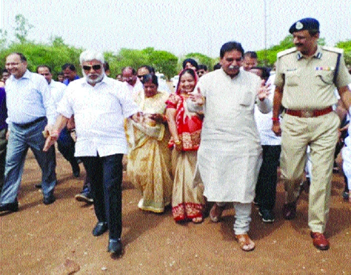 Cabinet Ministers inspect Jayanti Stadium ahead of PM's visit