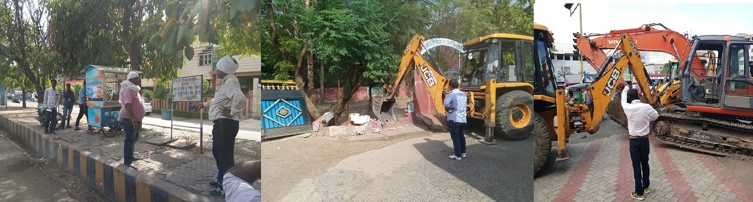Anti-encroachment squad razes illegal structures