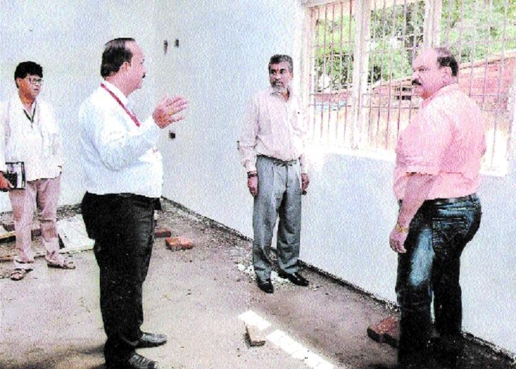 Mishra inspects devpt works at De-salva school