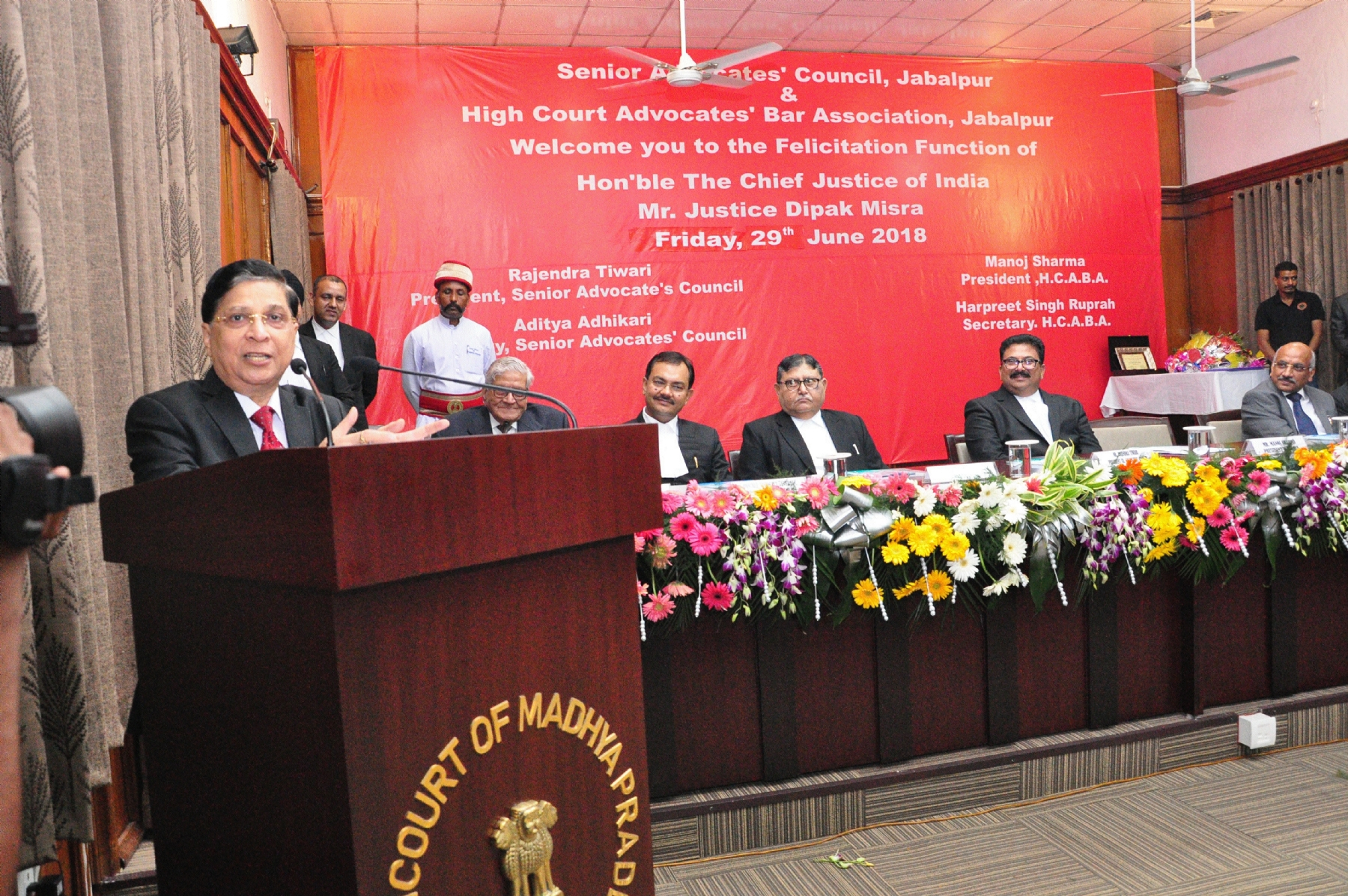 CJI Dipak Misra for eatablishment of State Lawyers' Academy in Jabalpur