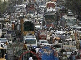 Traffic jams a, routine for citizens
