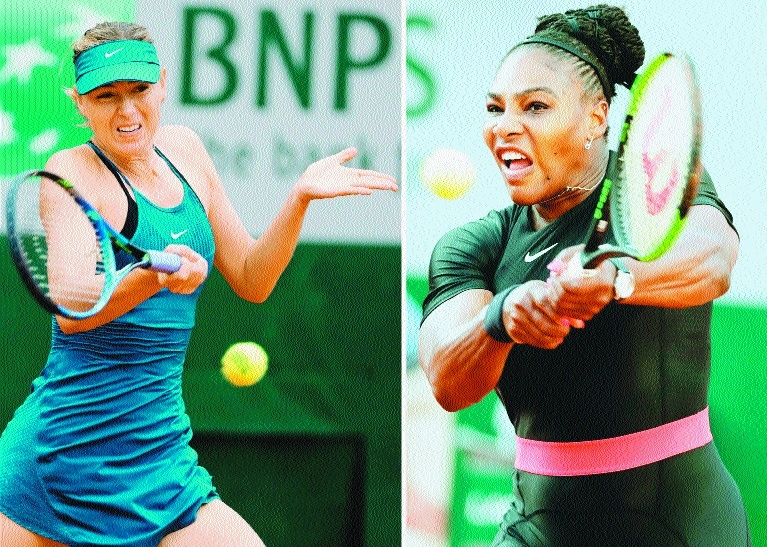 Serena slams Sharapova book ahead of French Open clash