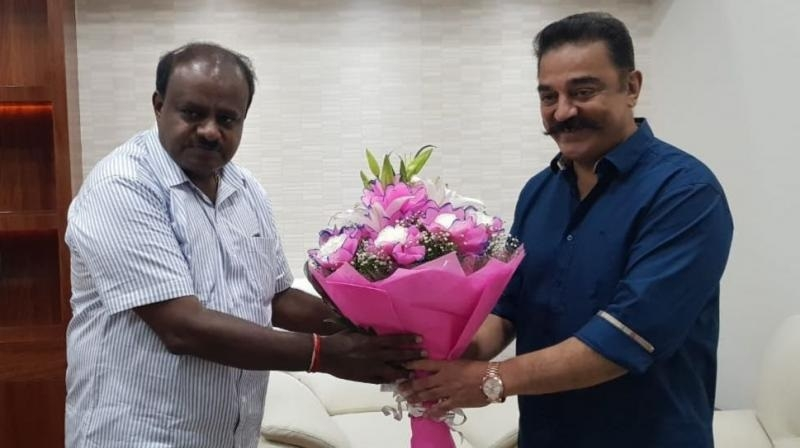 K'taka CM meets Kamal Haasan over Cauvery issue