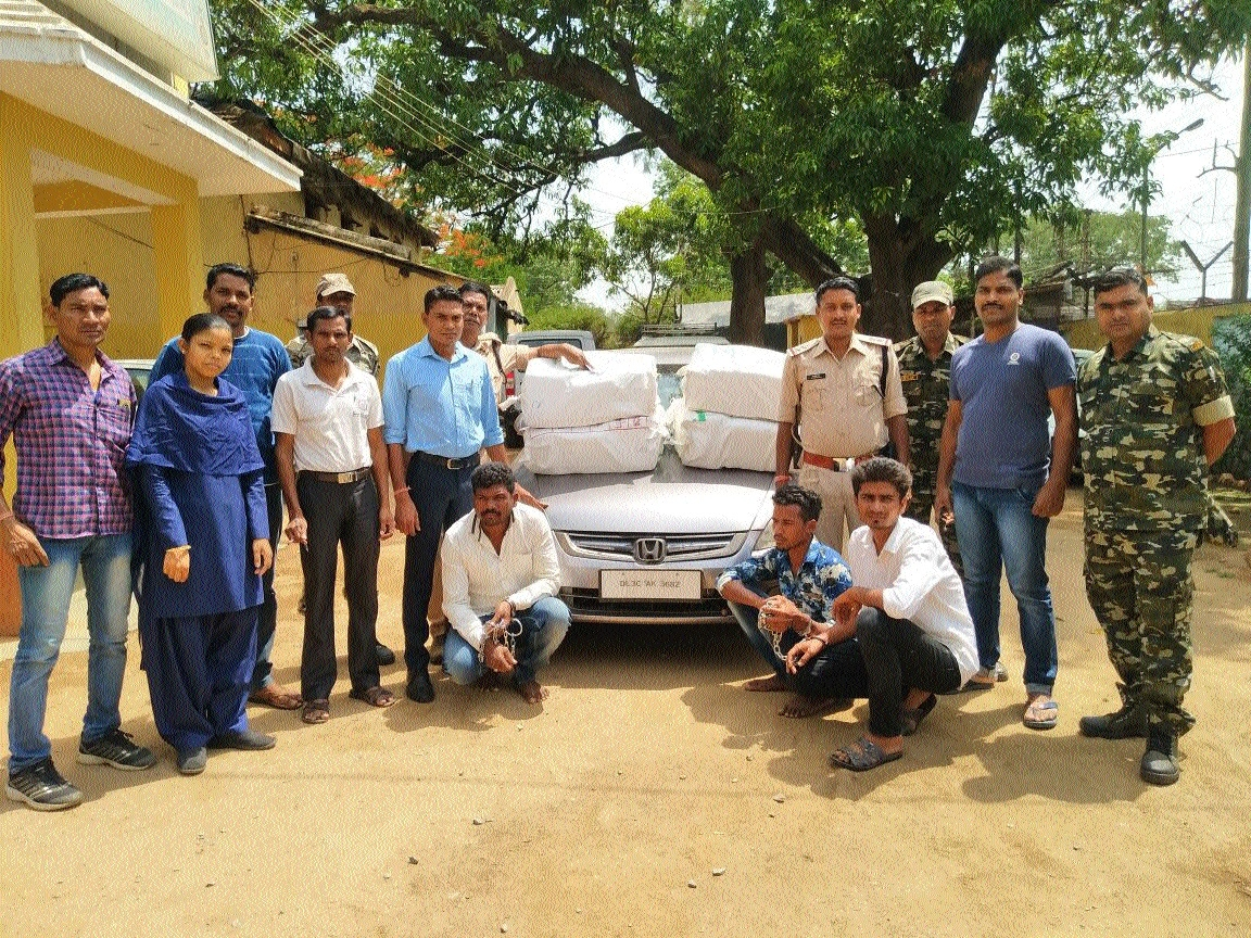 3 held with 111.34 kg of cannabis worth lakhs