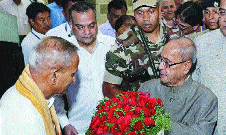 Pranab Mukherjee arrives, to address RSS event today