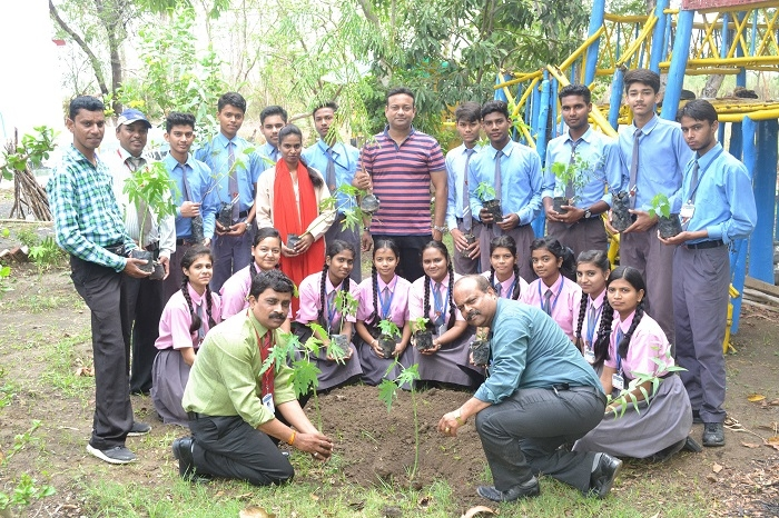 Saplings planted at Leonard agricultural field