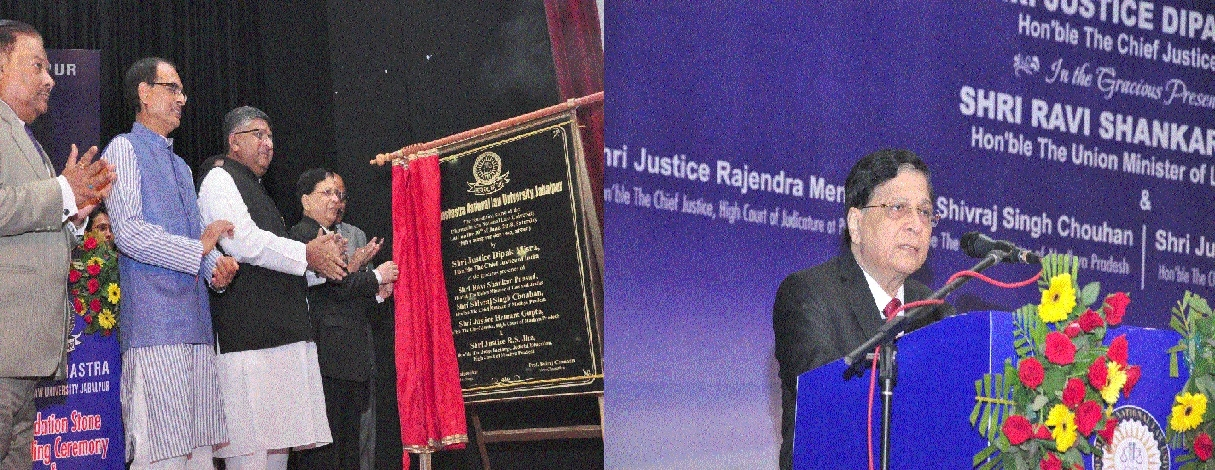 CJI Dipak Misra lays foundation of National Law University in city