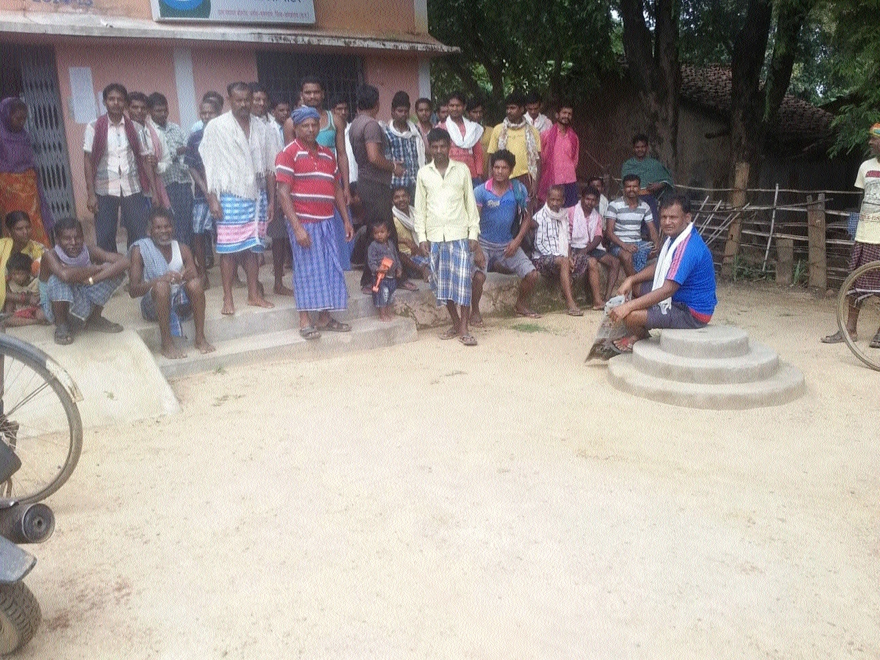 Displaced adivasis struggling for land rights