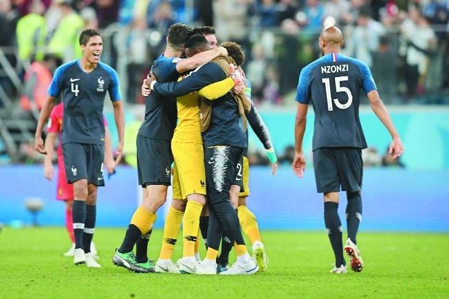 Les Bleus advance to Moscow
