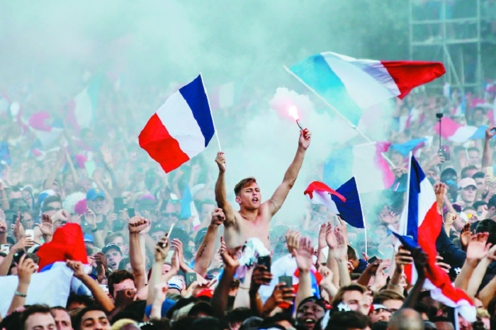 From Paris to Moscow, France fans go wild