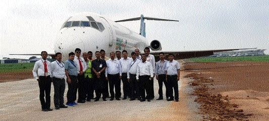 Abandoned Bangladesh plane shifted to other location