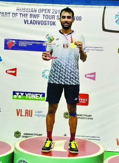 Sourabh wins Russian Open