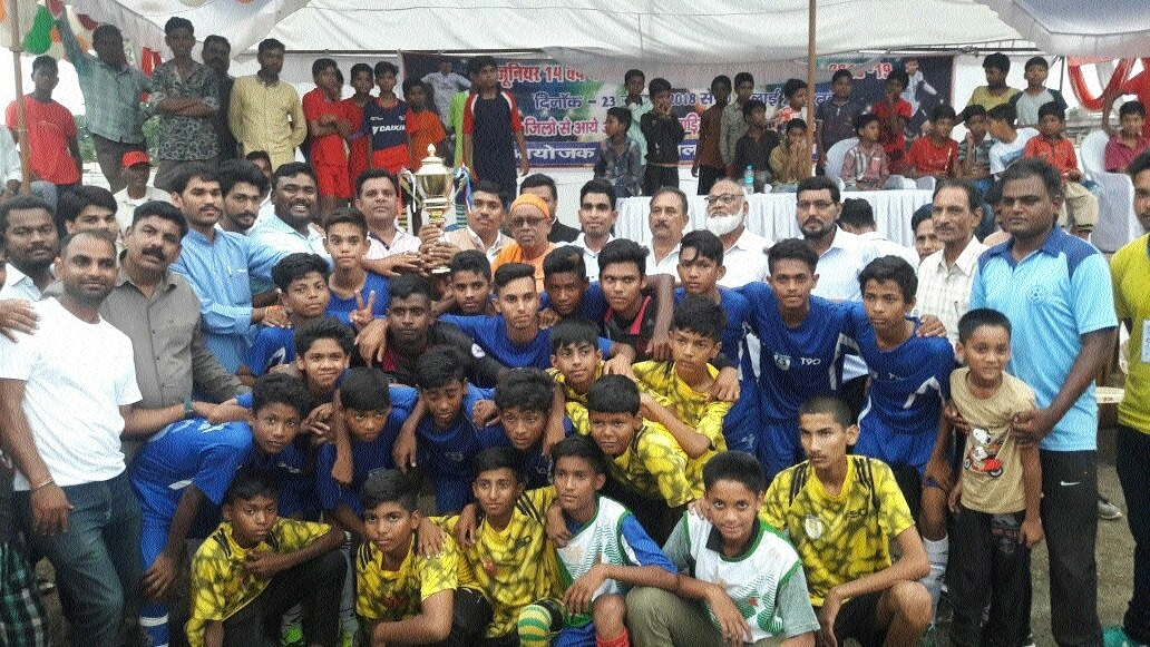 Balaghat lifts football trophy