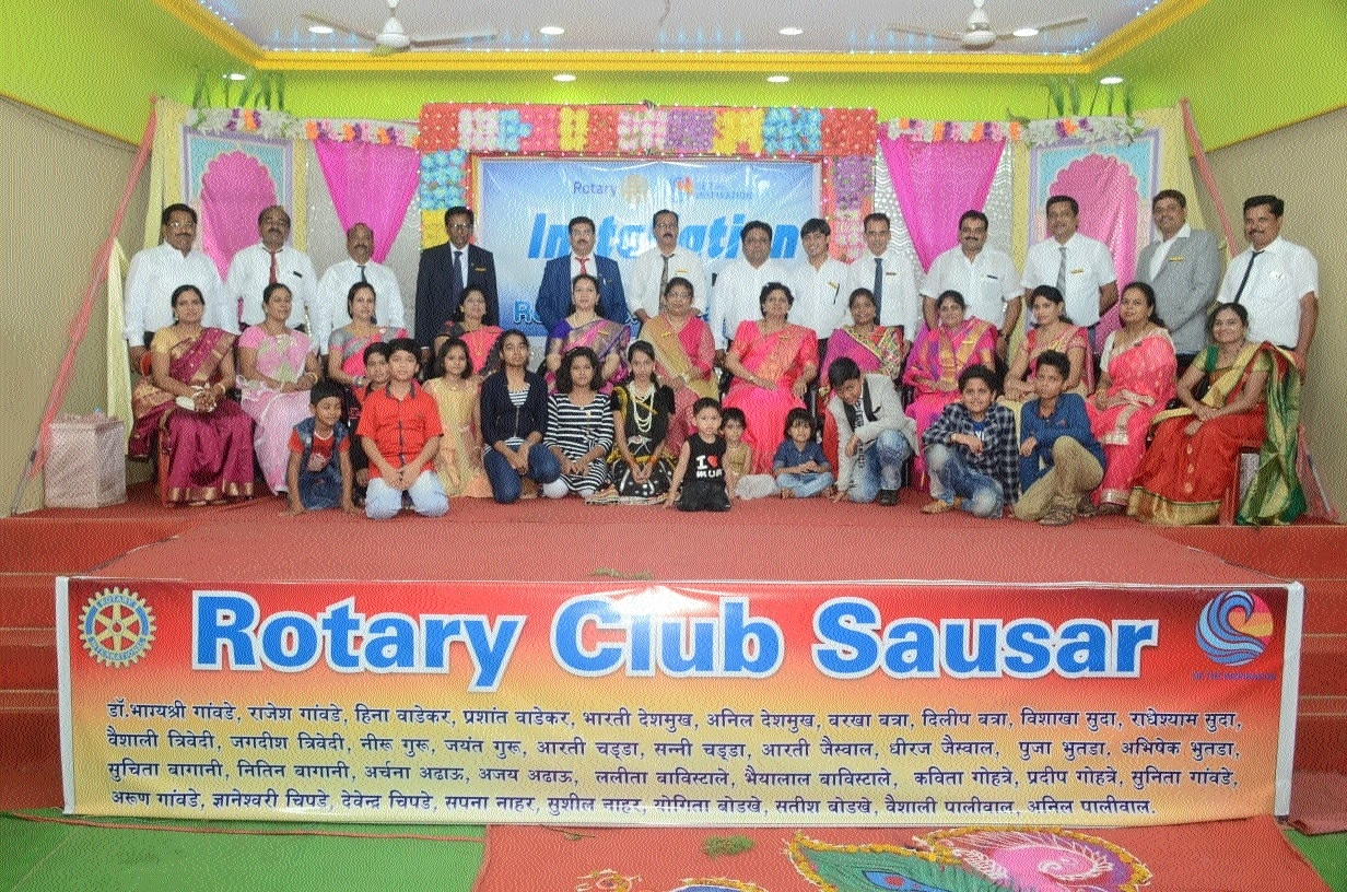 Rotary Club of Saunsar's new team in