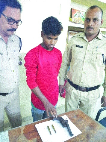 One nabbOne nabbed with country made pistol